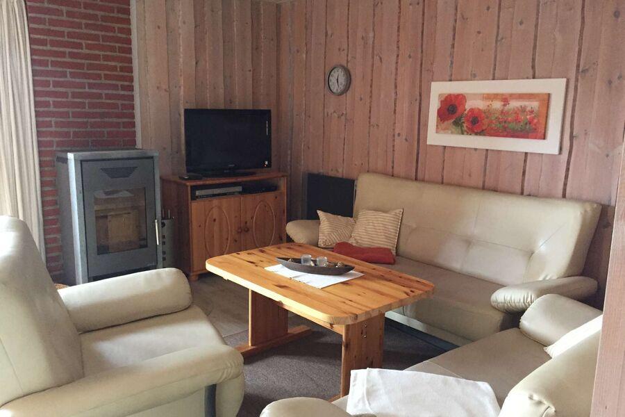 Wohnzimmer mit neuem Kaminofen