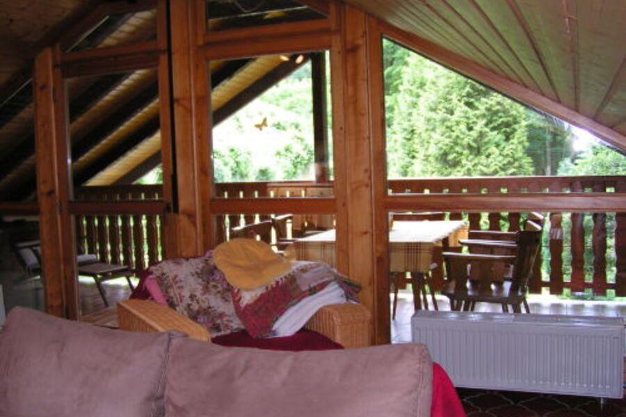 Loggia-Ansicht vom OG-Wohnzimmer aus