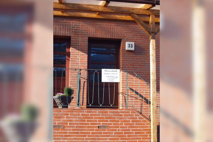 Eingangstür Ferienhaus Reinbrecht Nr. 33