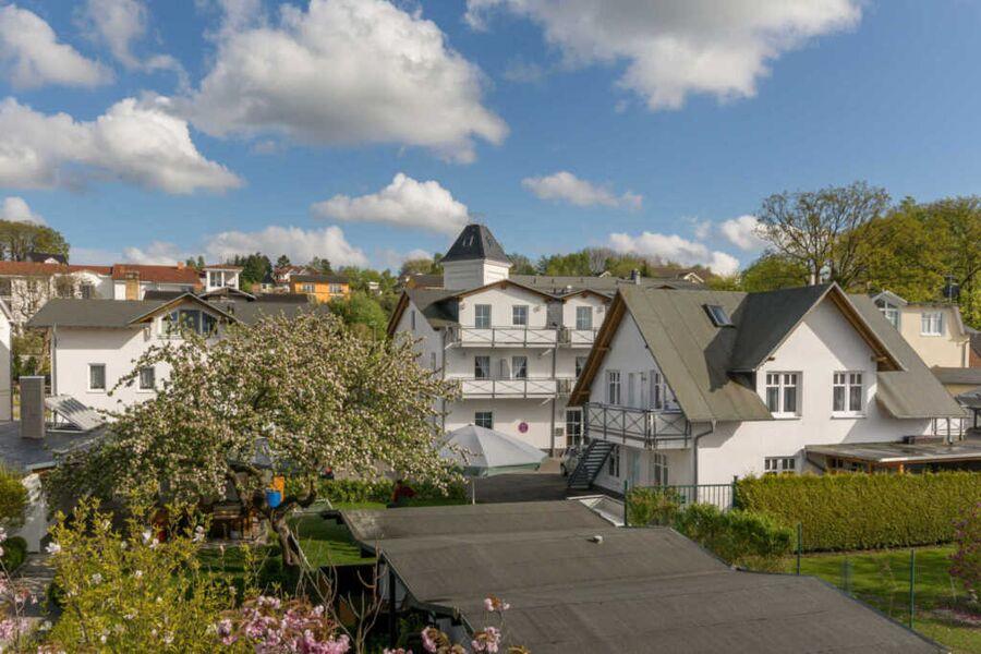 Luftaufnahme Gelände Pension ANKER; unten der angr