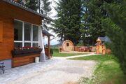 Ferienhaus - Grillhütte und Fass Sauna