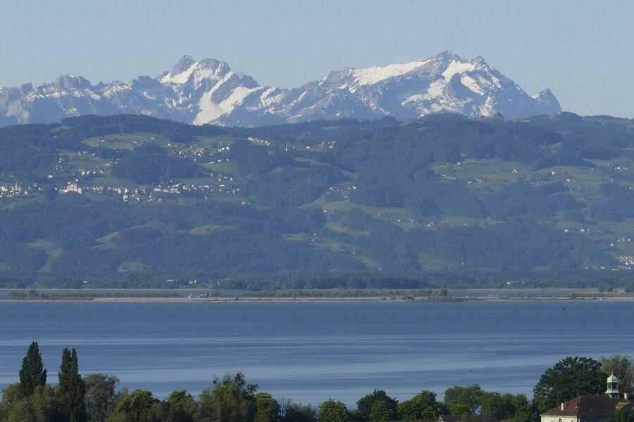 Blick nach Südwesten zum Säntis/Schweiz
