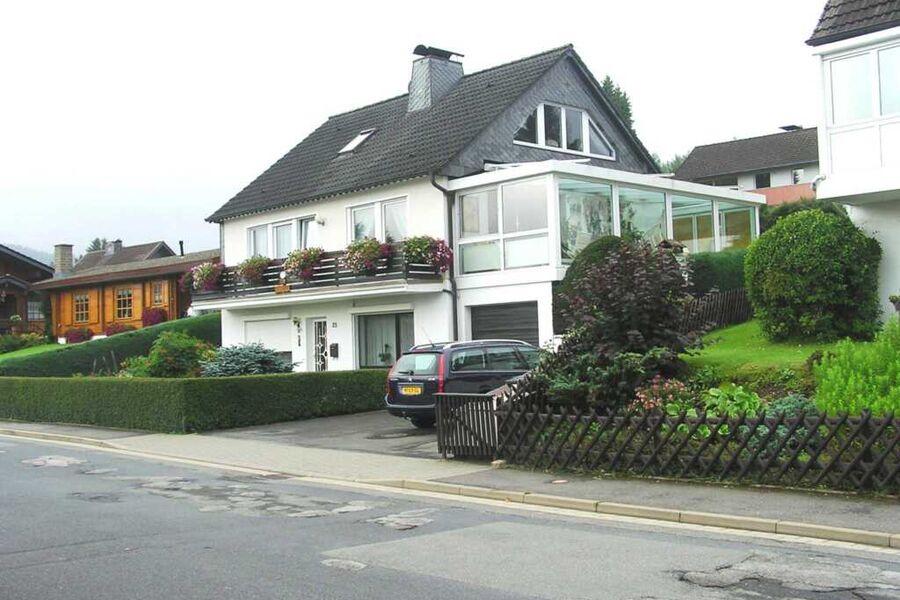 Blick auf das Haus in dem sich die beiden Ferienwo