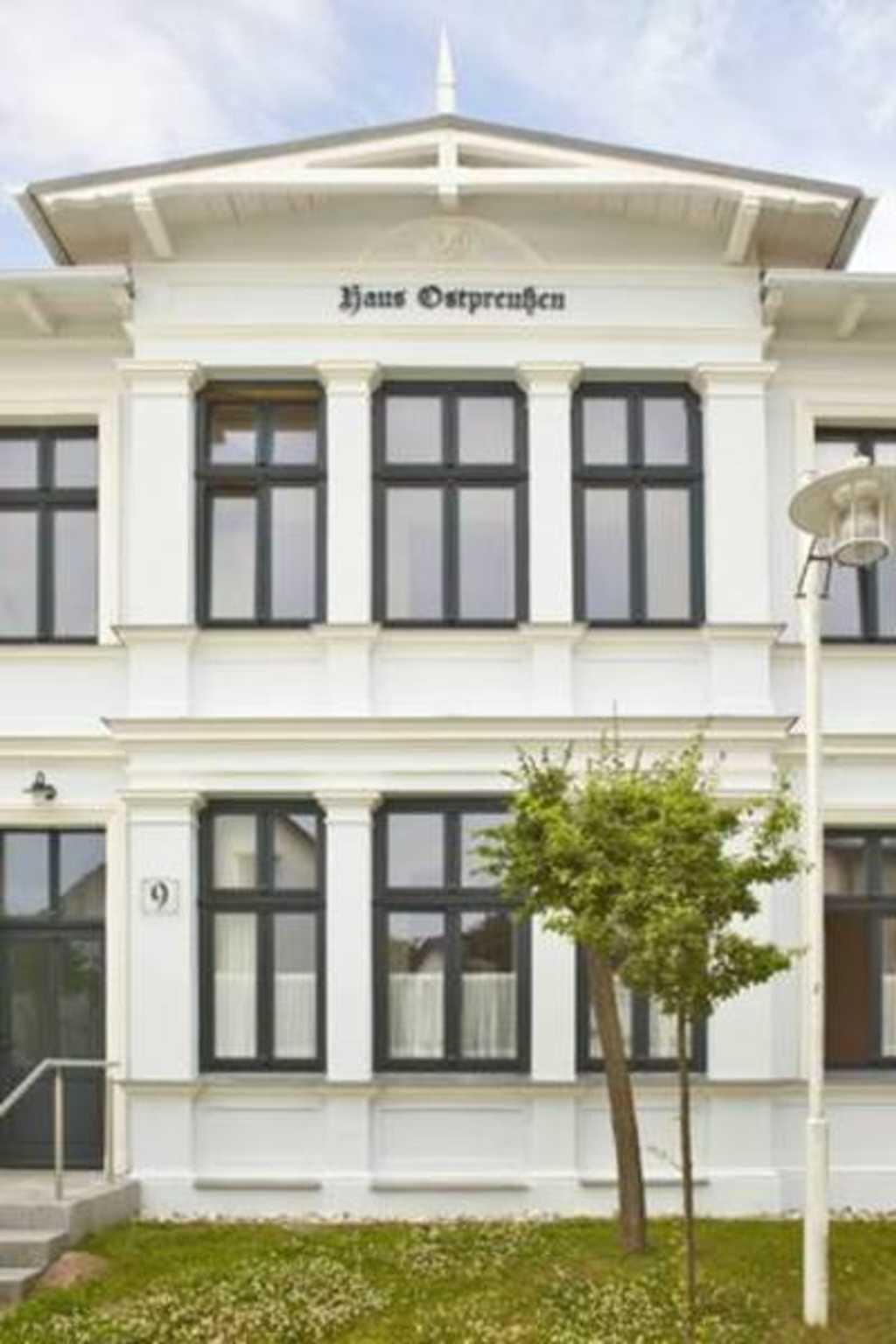 Strandvilla Ostpreussen Familie Herrgott, A   Ferienwohnung    '5'   1.OG  Seeseite aussen
