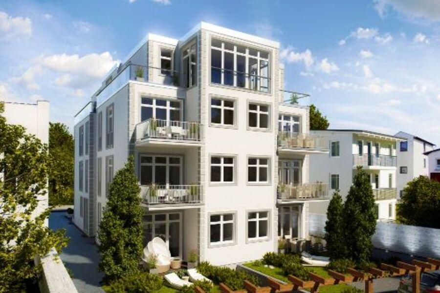 Terrassen-\/Gartenansicht in S\/W-Lage