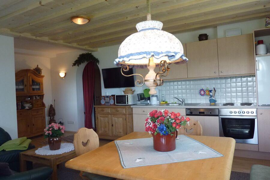 Ferienwohnung Wohnstube mit Küche