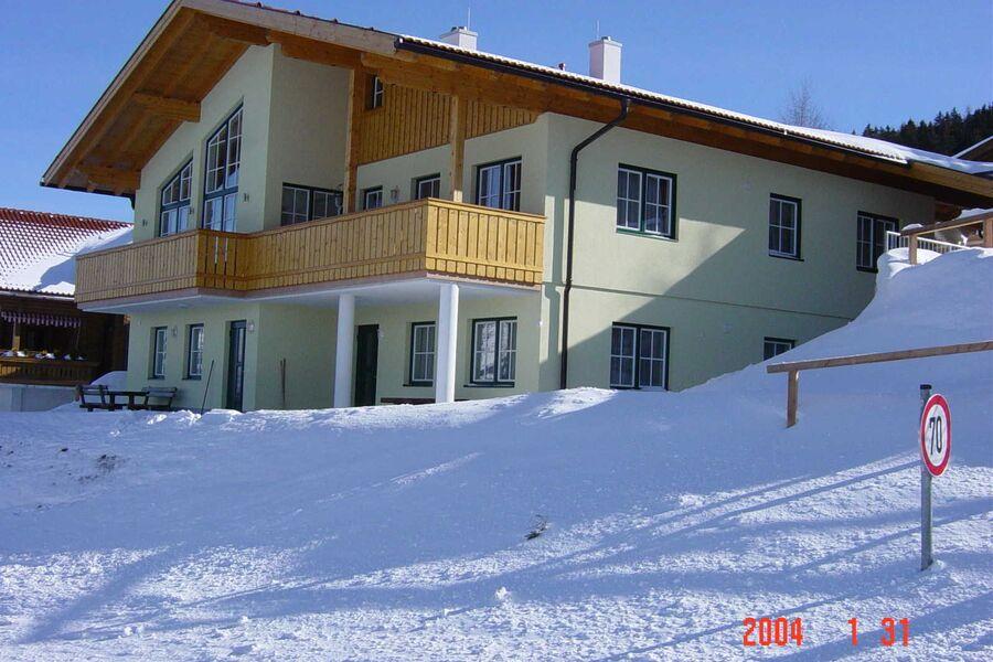 Haus Rigl im Schnee