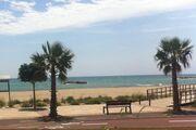 Strand und Promenade am Penthouse