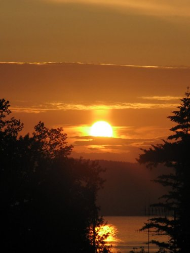 Sonnenuntergang v. Balkon