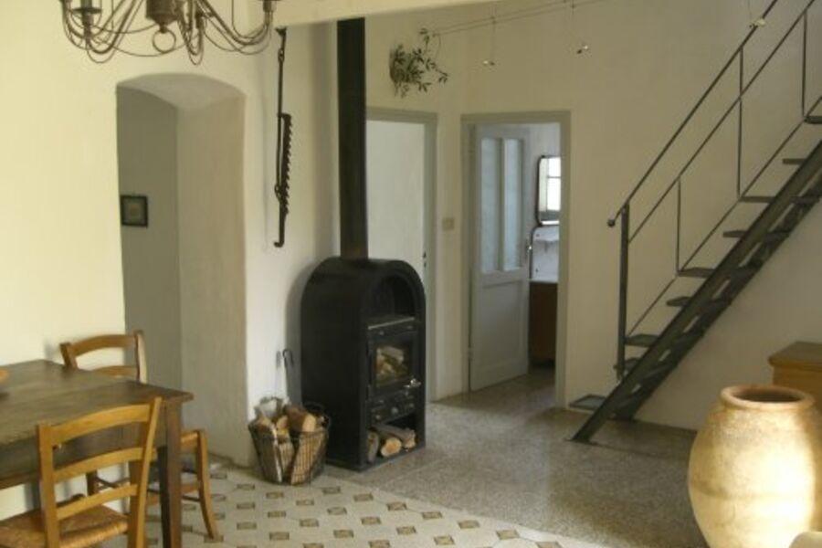 Treppe zur Loggia / Blick zum Schlafzim.