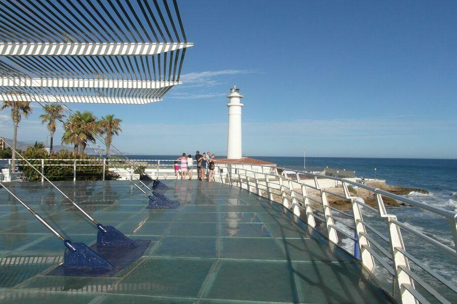 Leuchtturm vom Mirador in Torrox Costa
