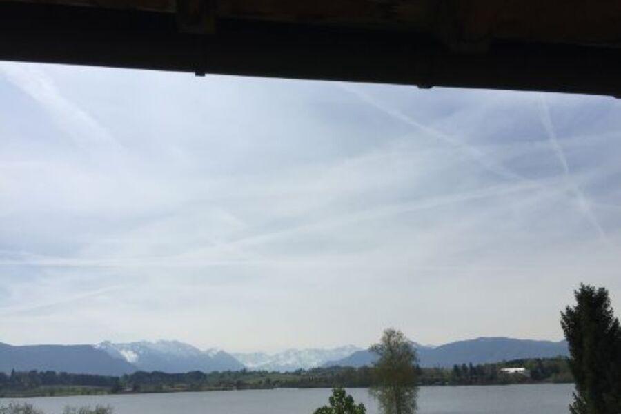 Blick vom Balkon zur Zugspitze