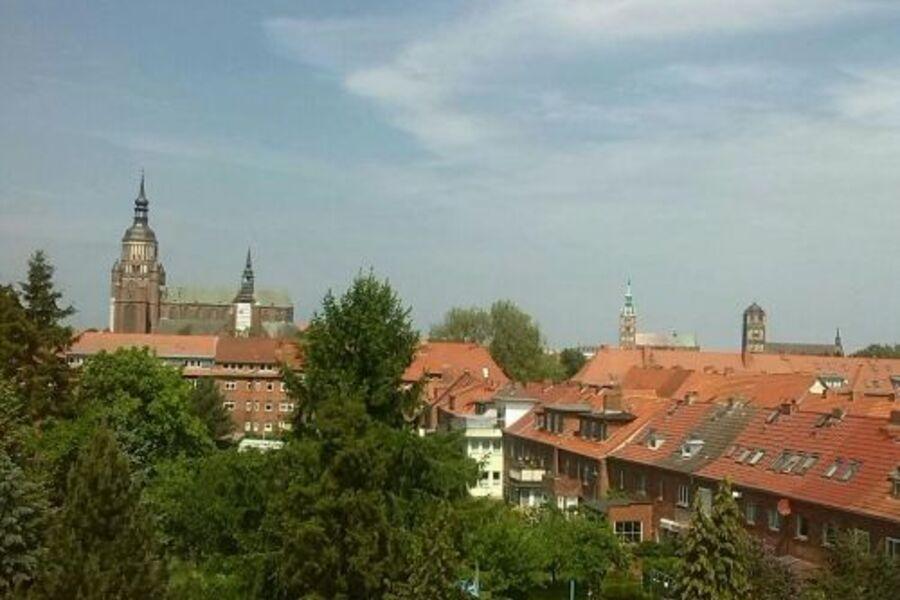 Blick auf die drei Hauptkirchen