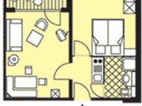 Kurhotel zu Heringsdorf, Appartement Typ 1 in Heringsdorf (Seebad) - kleines Detailbild