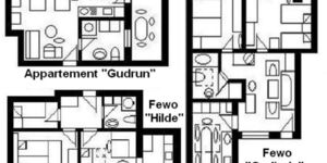 Haus U, für 1-15 Personen, 25km bis FFM-Nord, alle Appartements im Haus 'U' in Usingen - kleines Detailbild
