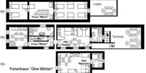 Haus 'O', für 1- 16 Personen, 23 km bis Frankfurt- Nord, alle Appartements im Haus 'O' in Ober–Mörlen - kleines Detailbild