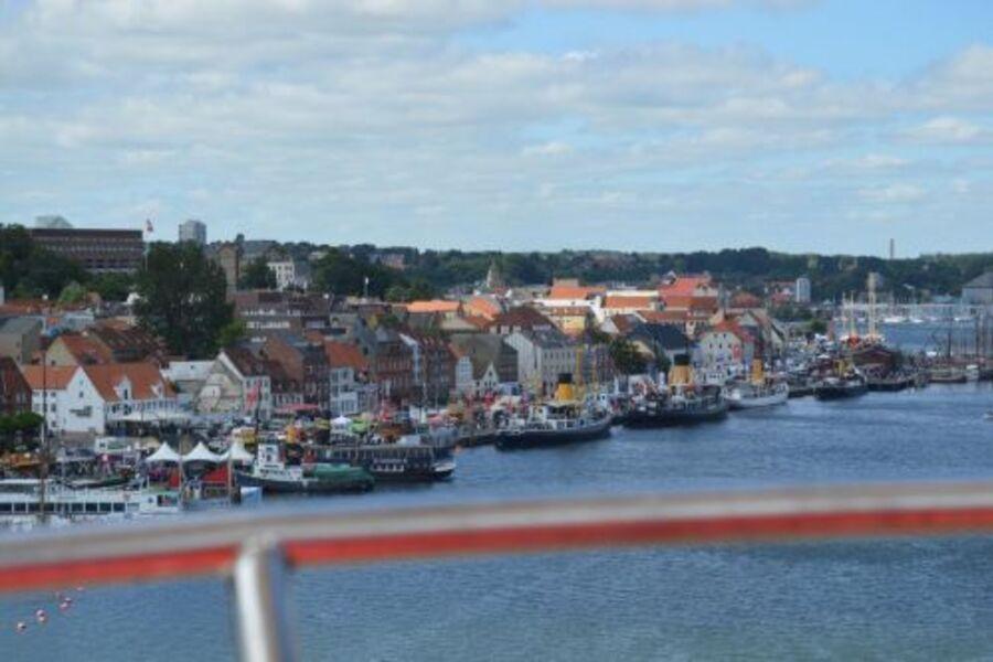 Blick über den Museumshafen Flensburg