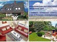 4 Zimmer Ferienwohnung SYLTER DEICHWIESE mit Terrasse, Appartement mit 3 Schlafzimmern für 2-5 Perso in Sylt - Westerland - kleines Detailbild