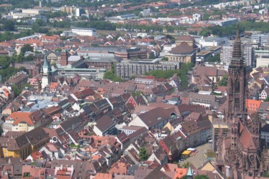 Blick auf Freiburg vom Schloßberg