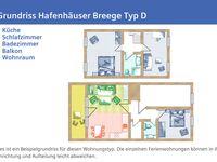 Hafenhäuser Breege, FeWo 15: 82m², 4-Raum, 6 Pers., Maison, Balkon, Meerbl kH in Breege-Juliusruh auf Rügen - kleines Detailbild