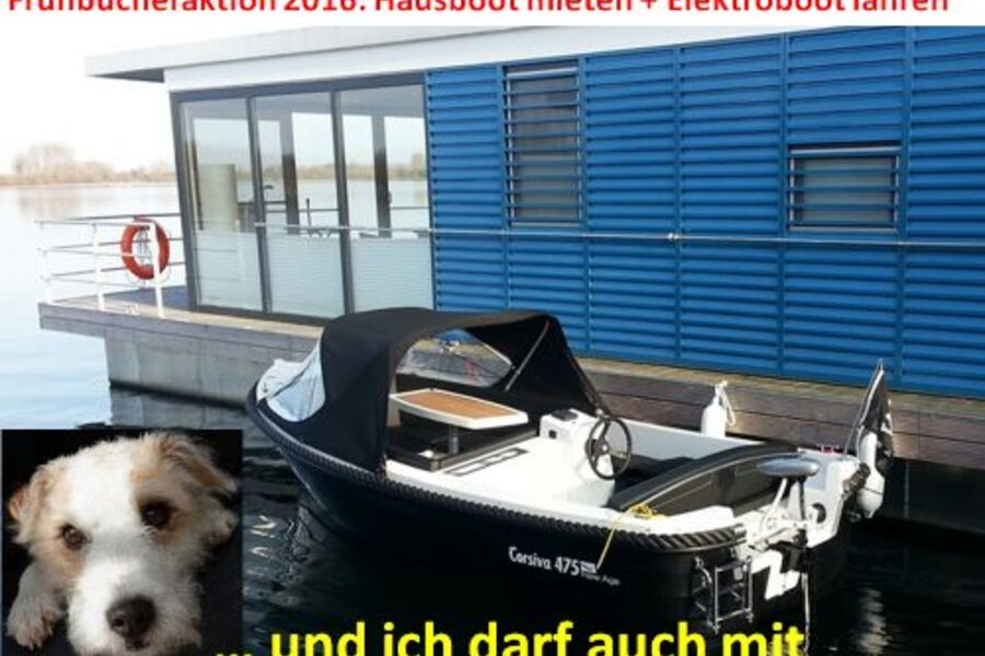 Hausboot mieten und Elektroboot fahren