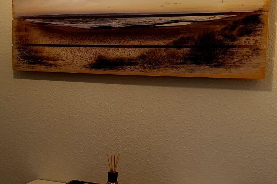 Blick vom Flur in die Wohnküche