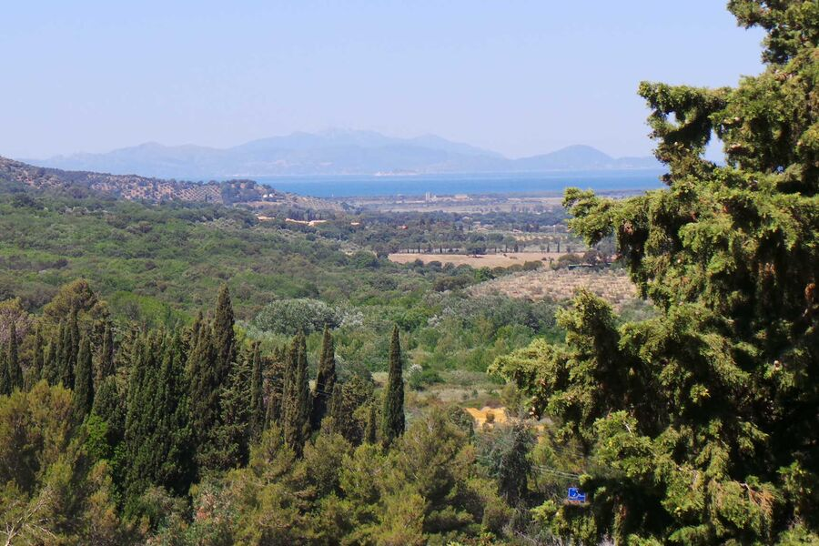 Blick auf Insel Elba vom Balkon