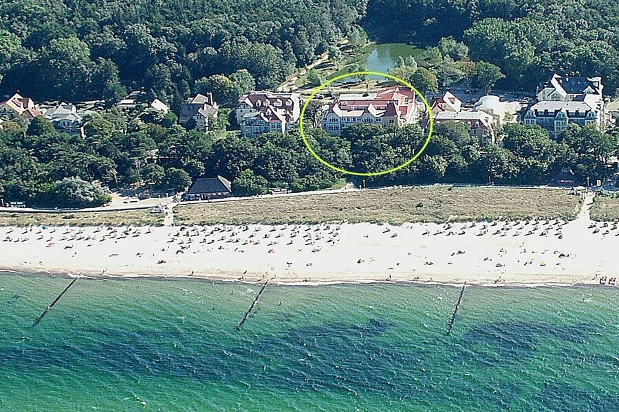 Luftbild Dünenschloss: direkt am Strand!