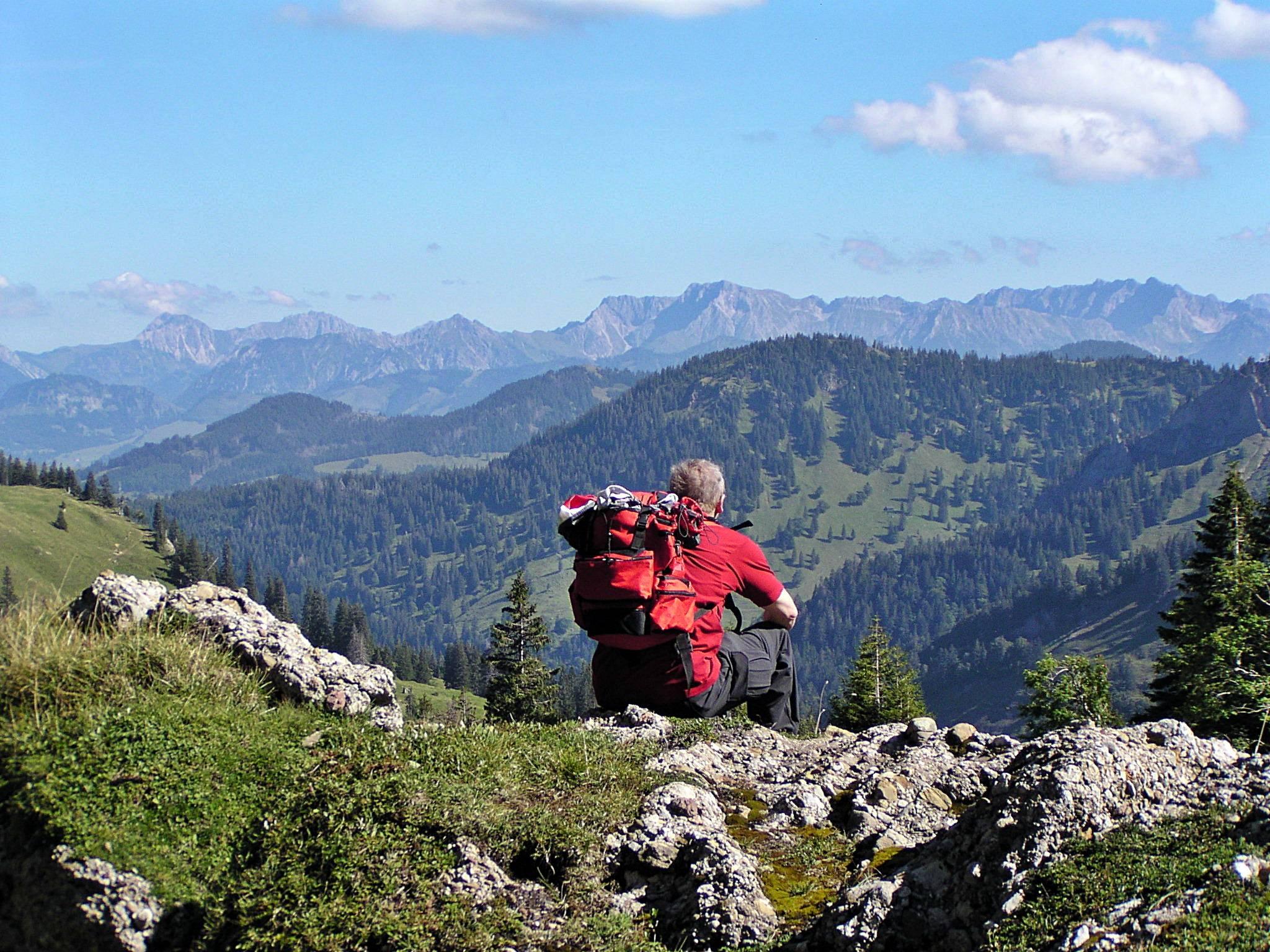 Blick vom Hochgrat in Oberstaufen