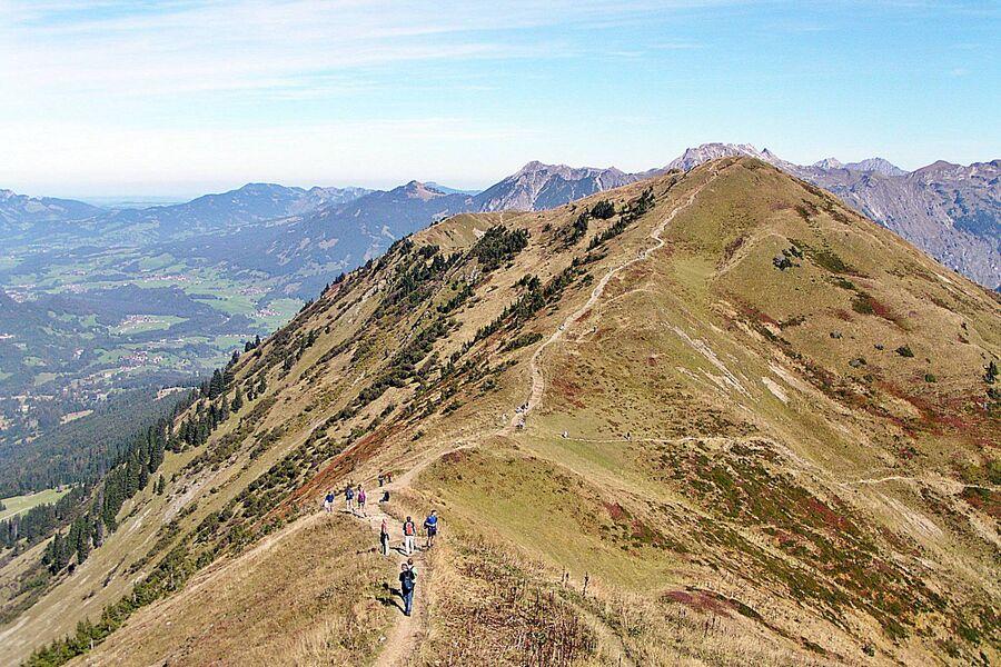 Gratwanderung über d. Oberstaufner Berge
