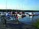 Hafencamp Senftenberger See, Baumhaus mit Hafenbli