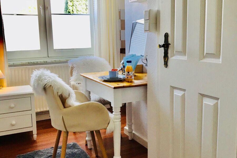 Blick zum neuen Duschbad