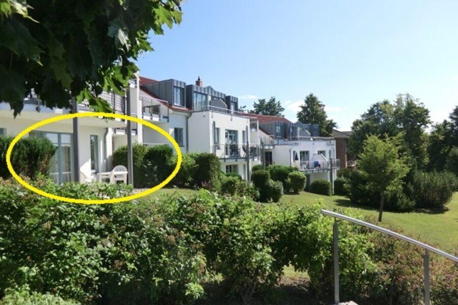 Lage der Wohnung große Terrasse