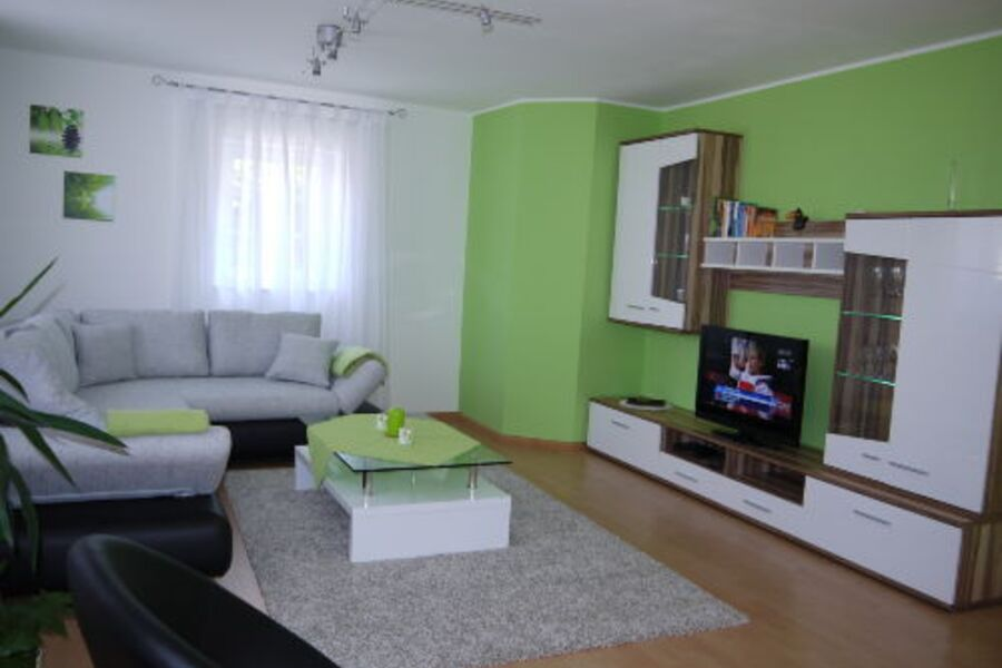 Wohnzimmer der Fewo am Eck (Fewo 1)