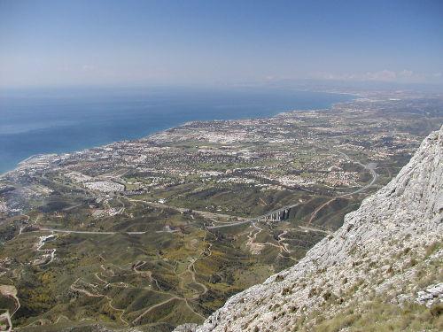 Schöner Ausblick auf Marbella und Küste