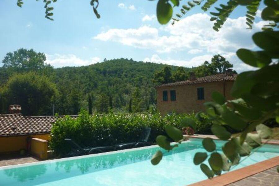 Haus und Pool von seiner schönsten Seite