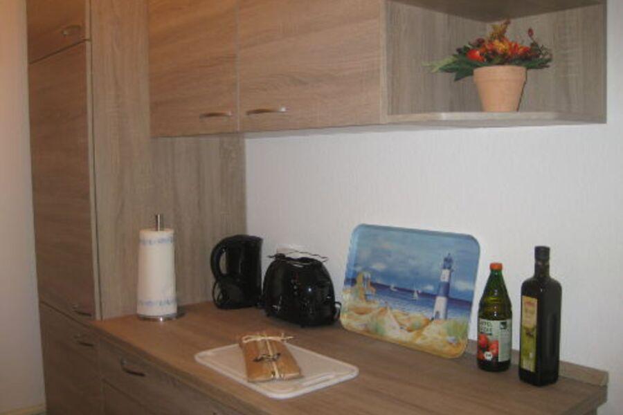 Unsere Einbauküche ist nagelneu...