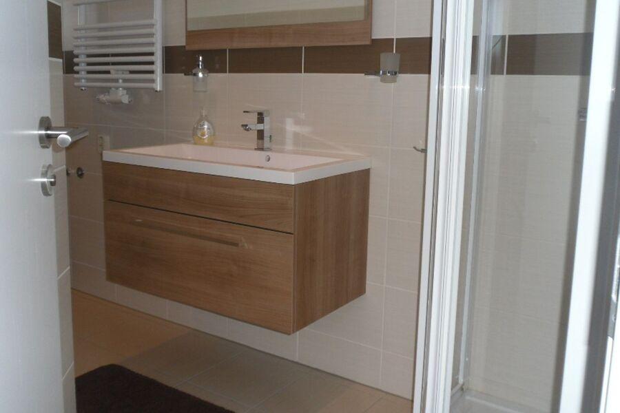 Das moderne Bad mit Dusche WC