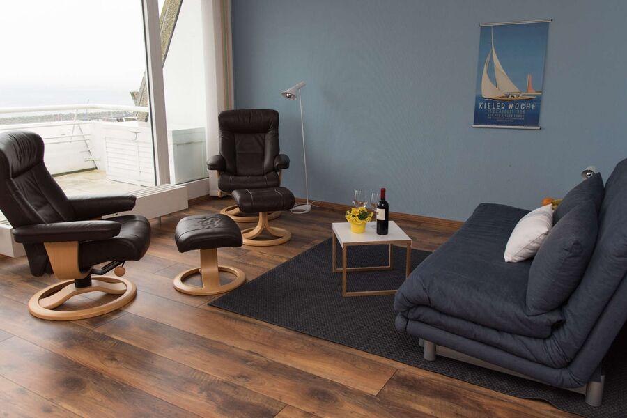 Wohnzimmer mit Meerblick