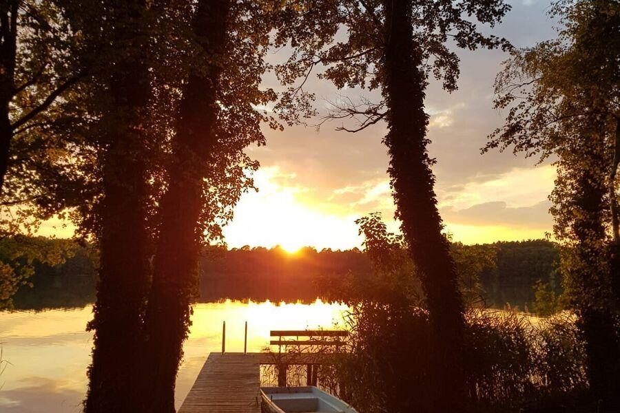Abendsonne über den großen Zescher See