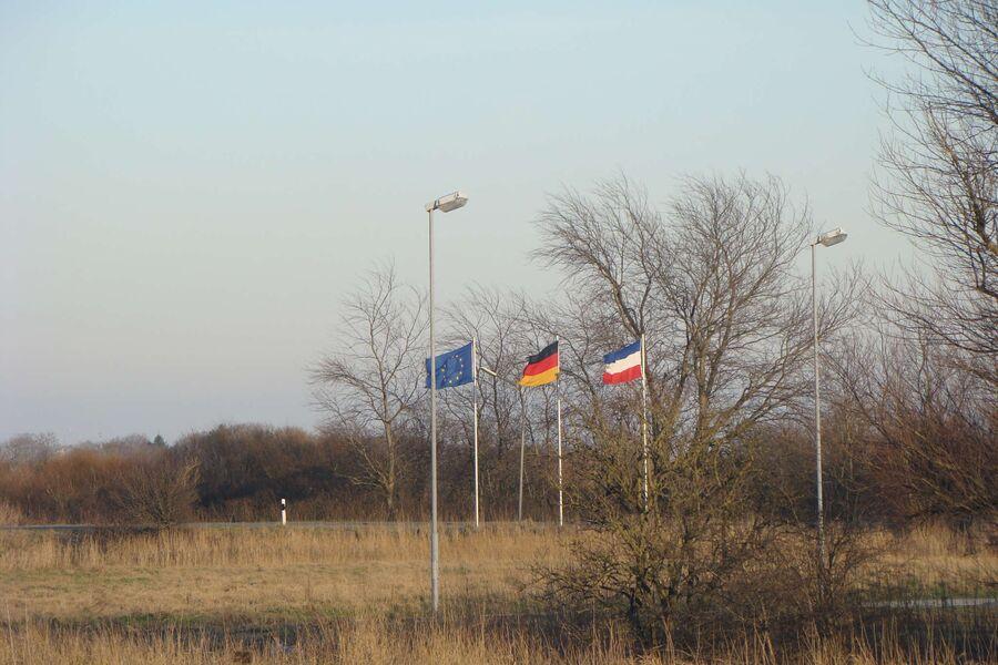 Direkt an der dänischen Grenze