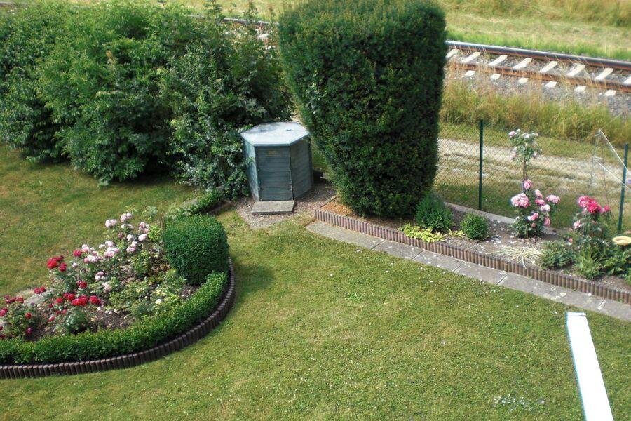 Garten mit Rosenbeet