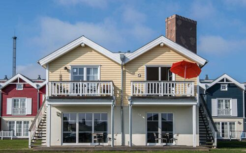 H048 Fewo Schnigge mit Balkon, Sauna + Pelletkamin, H048 - 2-Raum-Fewo 'Schnigge'STRANDPARK