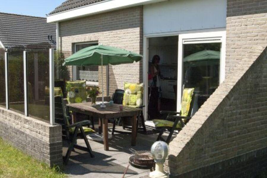 Windgeschütze Terrassen der Ferienhäuser