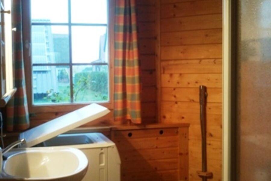 Holzbohlenblockhaus mit Kamin, Ferienhaus mit Kami
