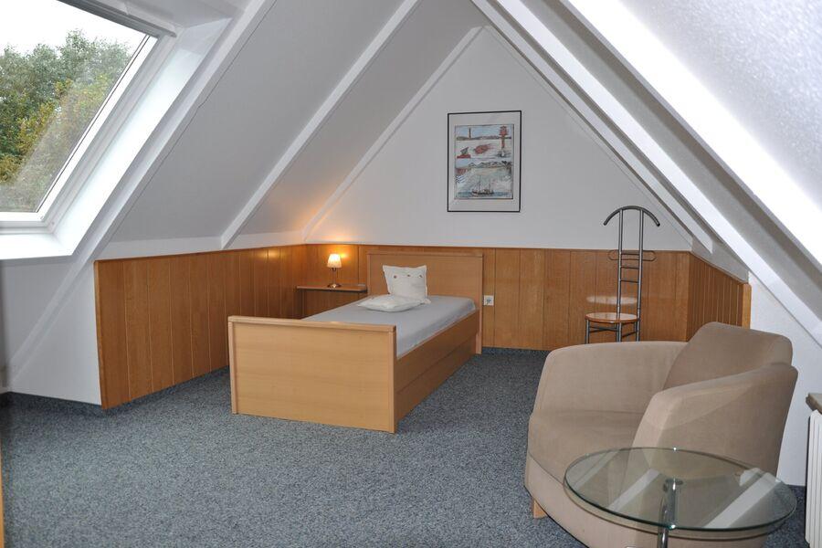 Die Treppe zum zweiten Schlafzimmer