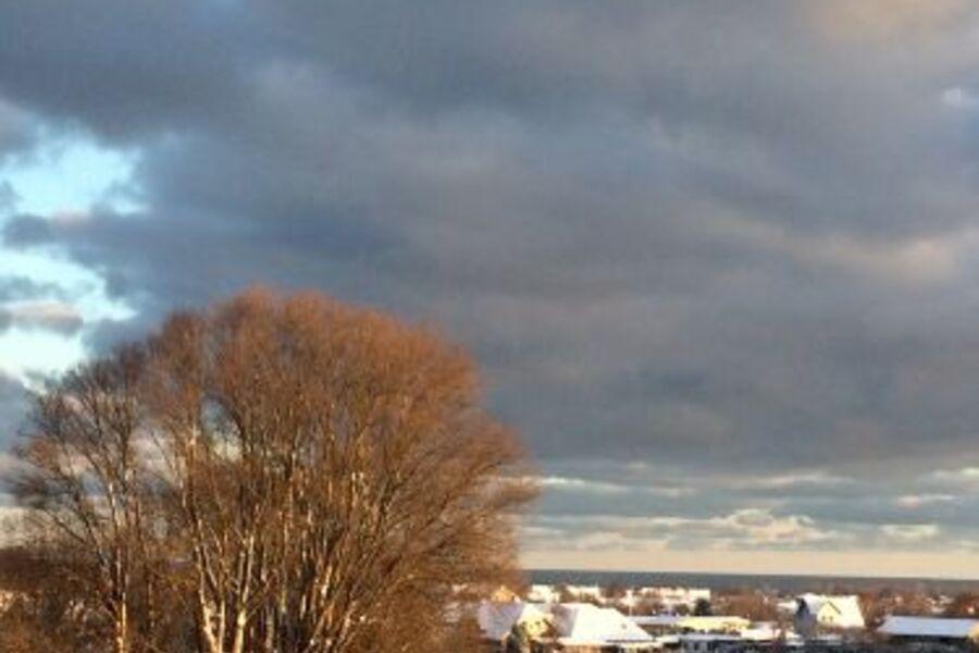 Blick auf Kühlungsborn im Winter
