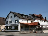 Hotel Werneths Landgasthof Hirschen, Dreibettzimmer Kat. A, Nichtraucher, WC und Dusche in Rheinhausen - kleines Detailbild