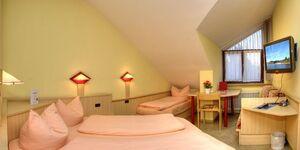 Hotel Restaurant Fallerhof Siegfried Faller, Dreibettzimmer im Haupthaus mit WC und Dusche in Bad Krozingen - kleines Detailbild