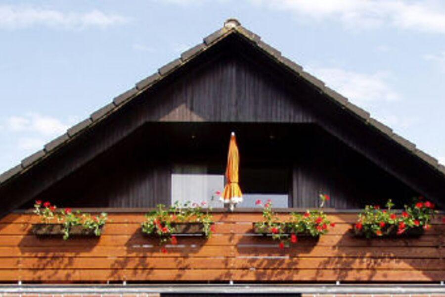 """Balkon-Loggia der Wohnung """"Rüm Hart"""""""